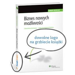 Biznes nowych możliwości - dowolne logo na grzbiecie książki